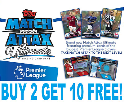 Topps MATCH ATTAX ULTIMATE 18/19 Base FOIL FINISH Cards #1-100 BUY 3 GET 3 FREE!