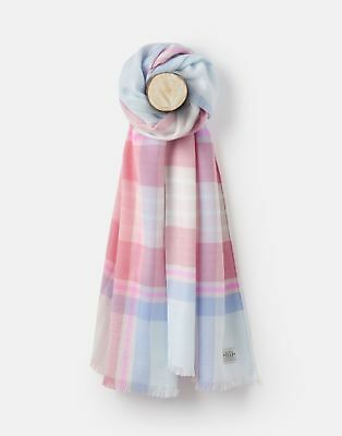 Joules 124979 Mid Sized Warm Handle Scarf ONE in PINK CHECK in One Size
