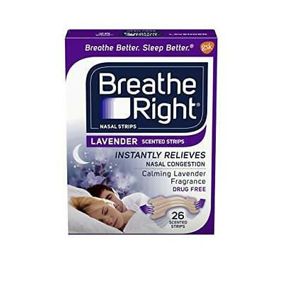 Breathe Right Drug Free Lavender Scented Nasal Congestion Strips, 26 Each