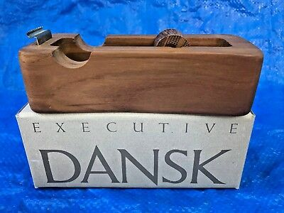 Rare Vintage Dansk Mid Century Modern Teakwood Tape Dispenser Quistgaard in Box