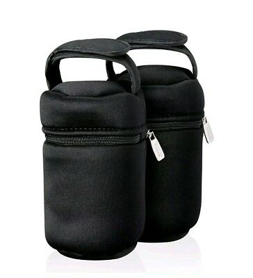 2 Baby Bottle Carrying Bags Insulated Tommee Tippee Keeps Warm On The Go