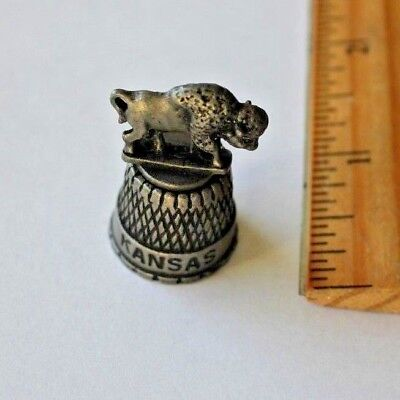KANSAS pewter thimble
