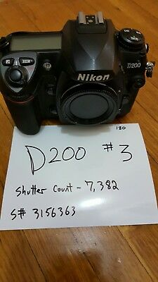 Nikon D D200 10.2MP Digital SLR Camera shutter count of only 7,382  (Body Only)
