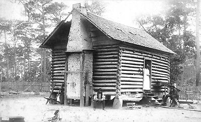 1875 Photo-African American Slave or Sharecropper Log Cabin Dwelling-