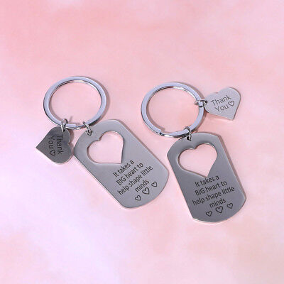 2pcs Love Heart Keyring Keychain Key Ring Keyfob Couple Valentine Lover's Gift