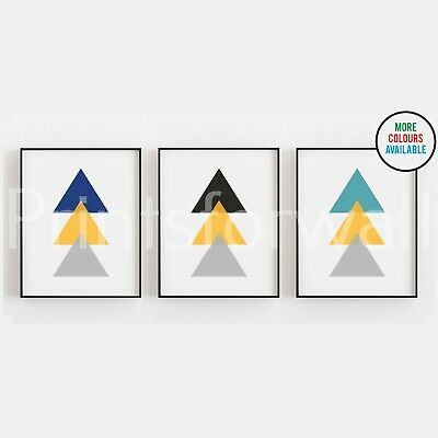 Set of Triangles Prints Geometric Home Poster Abstract Modern Picture Wall Art