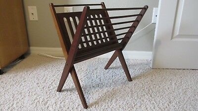 Vintage Mid Century Danish Modern Folding Magazine Rack Made in Yugoslavia