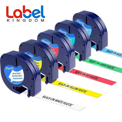 5PK 91331 91332 91333 91334 91335 Label Tape Color Compatible Dymo LetraTag 1/2""