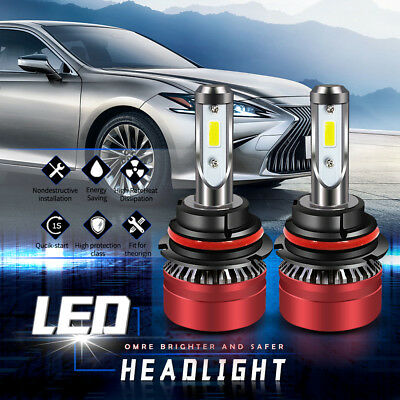 2x 9007 HB5 LED Headlight 6500K 8000LM High & Low Kit Beam CREE Bulbs Chip