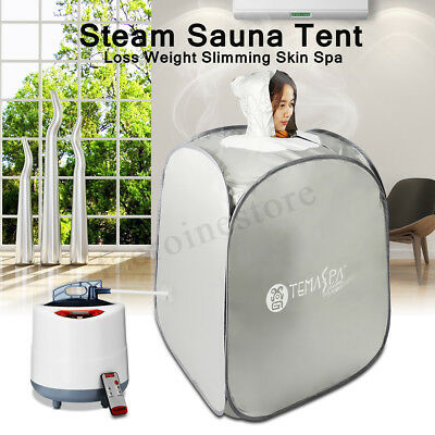 ❤ Portable Folding Steam Sauna Indoor Tent Cabin Loss Weight Slimming Skin Spa