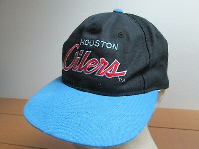 outlet store 582c1 5794d ... best price vintage 80s houston oilers nfl retro old school snapback  collectable hat cap 8e055 25373
