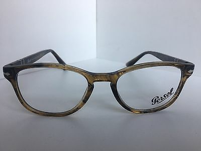 cc5e2274c3 New Persol 3085-V 1021 Havana 53mm Oval Rx Eyeglasses Frame Hand Made in  Italy