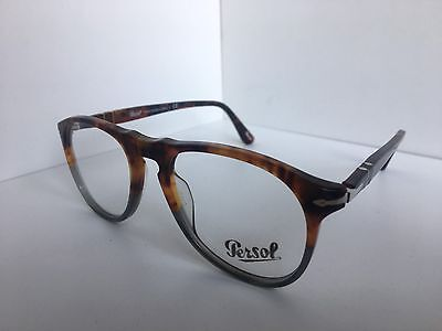 5c0fac6157 New Persol 9649-V 1023 Tortoise Fuocco e Ardesia 50mm Eyeglasses Frame Italy