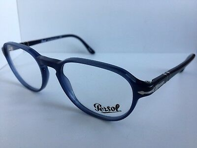 5bc380302a629 NEW PERSOL 3053-V 1028 52mm Rx Blue Eyeglasses Frame Italy -  68.99 ...
