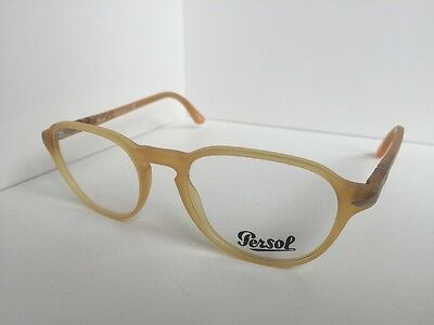f8be797276 New Persol 3053-V 9010 50mm Rx Round Camel Eyeglasses Frame Hand Made in  Italy