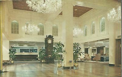Old Vintage Monteleone Hotel Lobby In French Quarter Louisiana Postcard