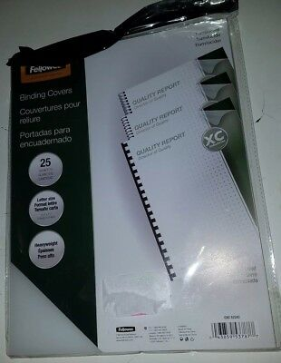 """Fellowes CRC52243 Frosted Binding Covers, 8.5 x 11"""", Heavy Weight, Pack of 25"""