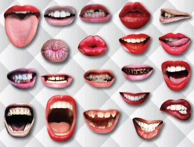 20pcs Funny Mouth Lips Wedding Photo Booth Selfie Props Party Reunion Decoration
