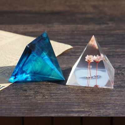 1X UV Resin Jewelry Liquid Silicone Mold Pyramid Shape Mold Resin Molds For DIY