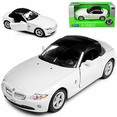 BMW Z4 E85 Weiss Cabrio Soft Top Roadster 2002-2008 ca 1/43 1/36-1/46 Welly Mo..