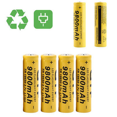 3.7V 18650 9800mAh Li-ion Rechargeable Battery For Flashlight Torch LED Toy