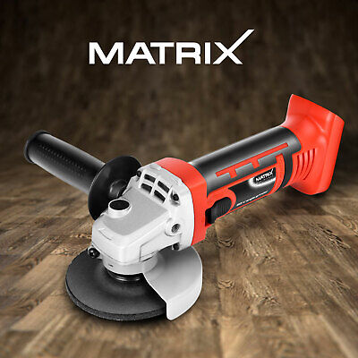 Matrix 20V Cordless Angle Grinder 115mm Metal Grinding Cutting 3 Year Warranty