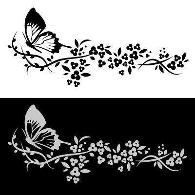 Beautiful Flying Butterfly Flower Car Auto Sticker Truck Door Window Decal Decor