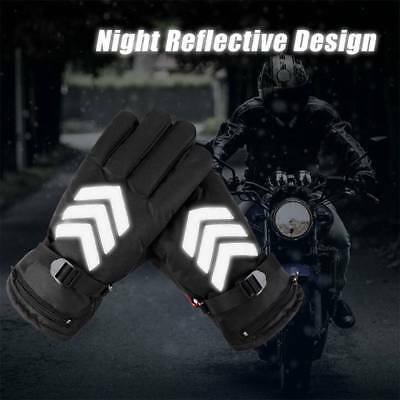 Motorcycle Electric Heated Gloves Rechargeable Battery Warm Gloves Waterproof