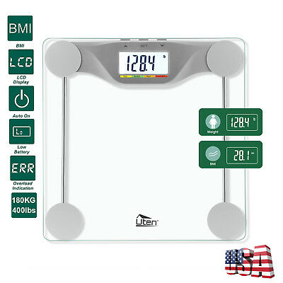 400lb Smart Digital LCD Body Bathroom Scale Fat Weight Muscle Scale BMI 180KG