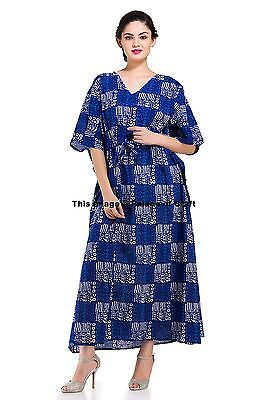 INDIAN MAXI DRESS Beach Wear Caftan Abstract Kaftan Plus Size Long ...