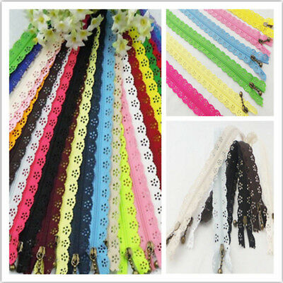 10pc Nylon Mixed Color Lace Edge Zipper Puller DIY Craft Zip Tailor Sewing Tools