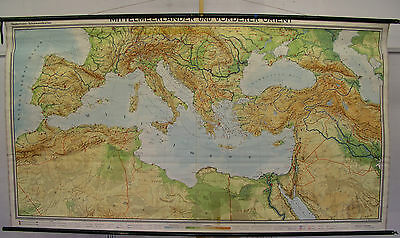 Schulwandkarte Wall Map Map Map Mediterranean Italy Africa Europa 269x147 1959