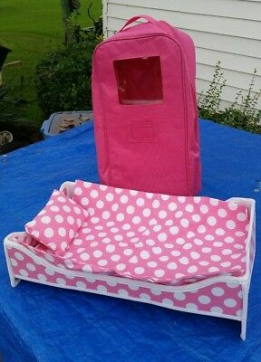 Doll Travel Case With Bed Bedding 18 American Girl Dolls