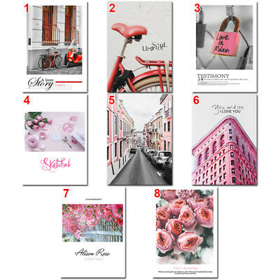Lots Nordic Pink Painting Picture Poster Unframed Home Hotel Office Wall Art DIY