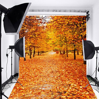 5X7FT Autumn Fall Forest Tree Vinyl Photo Backdrop Photography Background Props