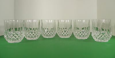 Cristal D'Arques Longchamp Crystal Double Old Fashioned Tumbler (s) LOT OF 6