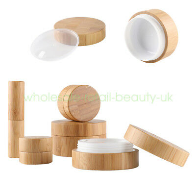 Empty Natural Bamboo 10g 30g 50g Lipstick tube Cosmetic Lip Balm Containers Jars