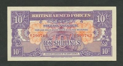 BRITISH ARMED FORCES 10 sh 1946-8 1st series  About Uncirculated  Banknotes