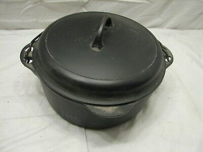 Cast Iron Griswold No. 8 Tite Top Dutch Oven w/Lid Trivet Pot Pan Roaster 1278