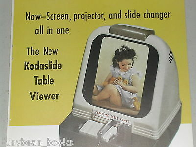 1949 Kodak advertisement page for Eastman KODAK Kodaslide Table Slide Viewer
