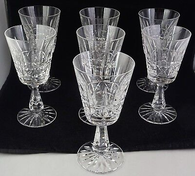 7 Waterford Kylemore (Cut) Claret Wine Glass Goblets Made In Ireland Crystal