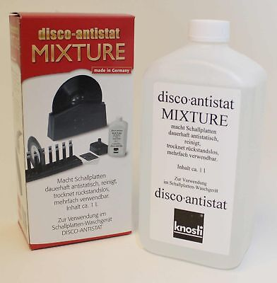 Knosti Disco Anti-Stat Replacement Record Cleaning Fluid + Free Cleaning Cloth