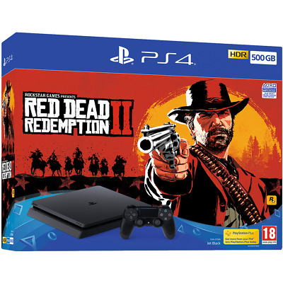 Sony PlayStation PS4 with Red Dead Redemption 2 500GB Black