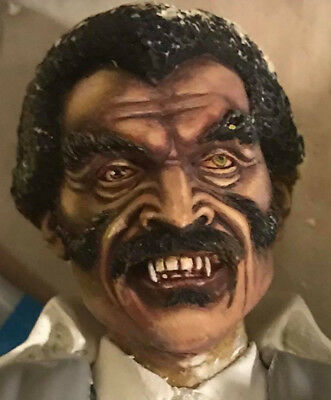Blacula Replacement Head And Nameplate, By Joe Simon, To Fit The Aurora Dracula