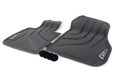 New Genuine BMW X1 F48 2014 - 2018 Floor mats All - Weather Front 2365855 OEM