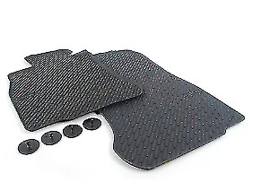 New Genuine BMW 6 F06 F12 F13 Front Rubber Floor Mats Black All Weather 2163801