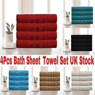 4x Large Jumbo Bath Sheets 100% Egyptian Combed Cotton Big Towels Big Bargain