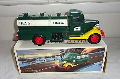1985 The First Hess Truck Toy Bank w/ Original Box  Working!