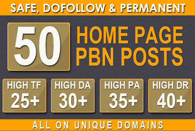 50 Quality Pbn Posts - Dofollow Backlinks To Improve Website Rankings