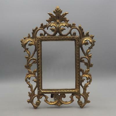 Vintage Brass Metal Picture Frame for 4x6